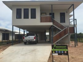 An ADAMANT Builders home getting the final touches.