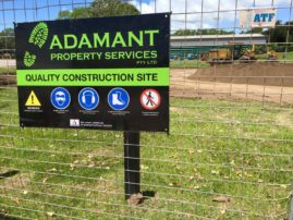Earthworks undertaken by ADAMANT Builders at Marrara for the 2015 Davis Cup